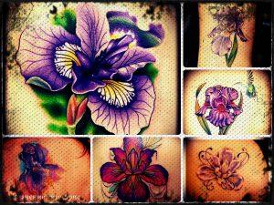 Значение тату ирис - информация о смысле и фото готовых татуировок
