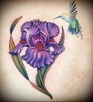 интересный вариант тату ирис на фото для статьи про значение — tatufoto.ru — 5