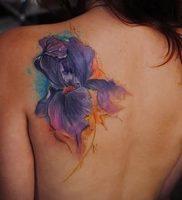 интересный вариант тату ирис на фото для статьи про значение — tatufoto.ru — 11