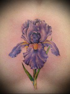 интересный вариант тату ирис на фото для статьи про значение - tatufoto.ru - 13