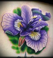 интересный вариант тату ирис на фото для статьи про значение — tatufoto.ru — 20