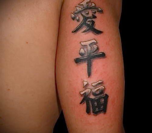 фото тату китайские иероглифы для статьи про значение татуировок - 4