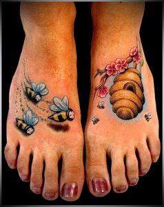 фото тату пчела для статьи про значение татуировки пчела - 16
