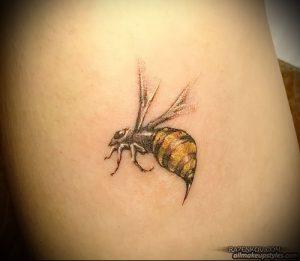 фото тату пчела для статьи про значение татуировки пчела - 18
