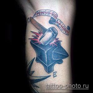 фото татуировки молот - значение - пример интересного рисунка тату - 017 tatufoto.com