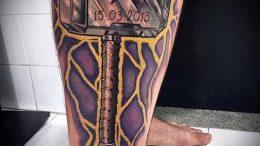 фото татуировки молот - значение - пример интересного рисунка тату - 018 tatufoto.com
