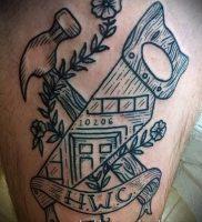 фото татуировки молот — значение — пример интересного рисунка тату — 023 tatufoto.com