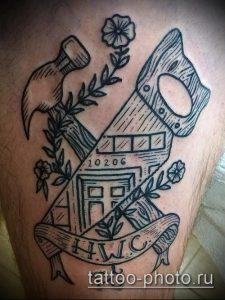 фото татуировки молот - значение - пример интересного рисунка тату - 023 tatufoto.com