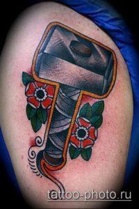фото татуировки молот - значение - пример интересного рисунка тату - 026 tatufoto.com