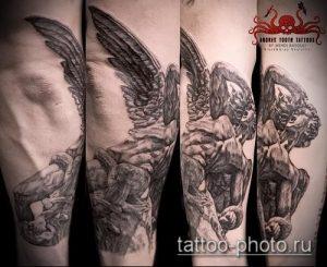 фото тату демон - значение - пример интересного рисунка тату - 002 tattoo-photo.ru