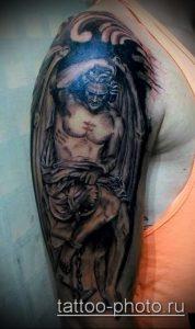 фото тату демон - значение - пример интересного рисунка тату - 004 tattoo-photo.ru