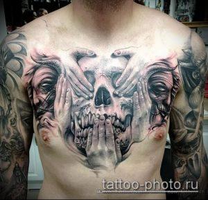 фото тату демон - значение - пример интересного рисунка тату - 007 tattoo-photo.ru