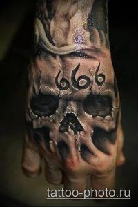 фото тату демон - значение - пример интересного рисунка тату - 009 tattoo-photo.ru