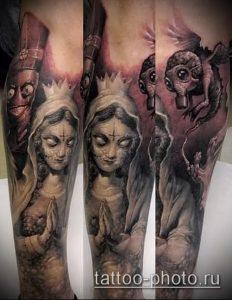 фото тату демон - значение - пример интересного рисунка тату - 010 tattoo-photo.ru