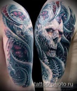 фото тату демон - значение - пример интересного рисунка тату - 011 tattoo-photo.ru