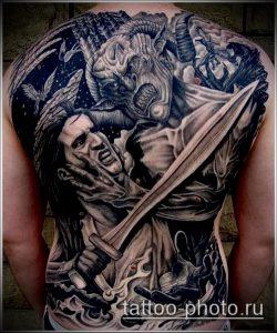фото тату демон - значение - пример интересного рисунка тату - 012 tattoo-photo.ru