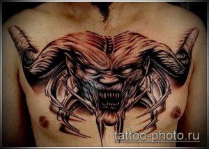фото тату демон - значение - пример интересного рисунка тату - 014 tattoo-photo.ru