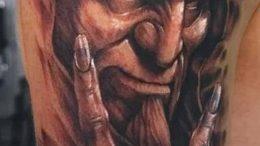 фото тату демон - значение - пример интересного рисунка тату - 016 tattoo-photo.ru