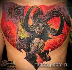 фото тату демон - значение - пример интересного рисунка тату - 020 tattoo-photo.ru