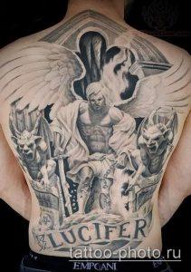 фото тату демон - значение - пример интересного рисунка тату - 021 tattoo-photo.ru