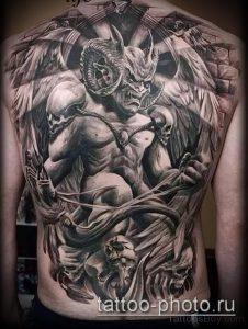 фото тату демон - значение - пример интересного рисунка тату - 026 tattoo-photo.ru