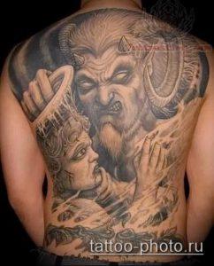 фото тату демон - значение - пример интересного рисунка тату - 029 tattoo-photo.ru