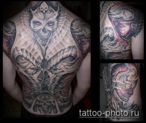 фото тату демон - значение - пример интересного рисунка тату - 030 tattoo-photo.ru