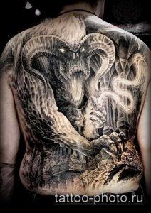 фото тату демон - значение - пример интересного рисунка тату - 035 tattoo-photo.ru