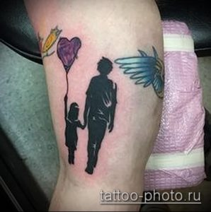 фото тату человек - значение - пример интересного рисунка тату - 007 tattoo-photo.ru