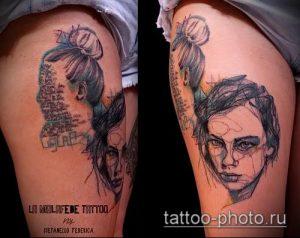 фото тату человек - значение - пример интересного рисунка тату - 010 tattoo-photo.ru
