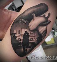 фото тату человек — значение — пример интересного рисунка тату — 037 tattoo-photo.ru