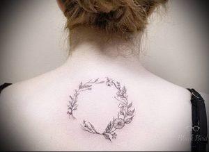 фото тату венок (tattoo wreath) (значение) - пример рисунка - 008 tatufoto.com