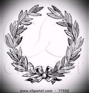 фото тату венок (tattoo wreath) (значение) - пример рисунка - 014 tatufoto.com