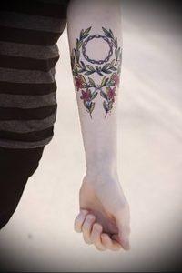 фото тату венок (tattoo wreath) (значение) - пример рисунка - 017 tatufoto.com