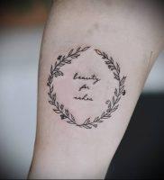 фото тату венок (tattoo wreath) (значение) — пример рисунка — 026 tatufoto.com
