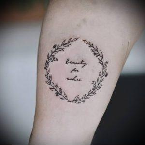 фото тату венок (tattoo wreath) (значение) - пример рисунка - 026 tatufoto.com