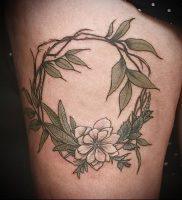 фото тату венок (tattoo wreath) (значение) — пример рисунка — 033 tatufoto.com