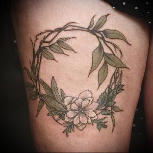 фото тату венок (tattoo wreath) (значение) - пример рисунка - 033 tatufoto.com