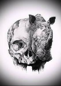 фото тату носорог (rhino tattoo) (значение) - пример рисунка - 004 tatufoto.com