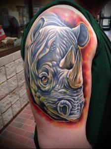 фото тату носорог (rhino tattoo) (значение) - пример рисунка - 010 tatufoto.com