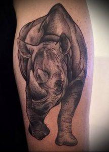 фото тату носорог (rhino tattoo) (значение) - пример рисунка - 024 tatufoto.com