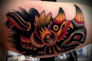 фото тату носорог (rhino tattoo) (значение) - пример рисунка - 028 tatufoto.com