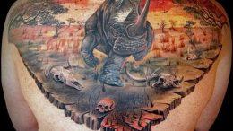 фото тату носорог (rhino tattoo) (значение) - пример рисунка - 030 tatufoto.com