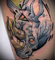 фото тату носорог (rhino tattoo) (значение) — пример рисунка — 034 tatufoto.com