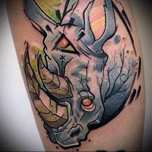 фото тату носорог (rhino tattoo) (значение) - пример рисунка - 034 tatufoto.com