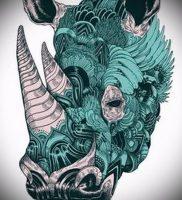 фото тату носорог (rhino tattoo) (значение) — пример рисунка — 035 tatufoto.com