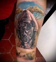 фото тату носорог (rhino tattoo) (значение) — пример рисунка — 036 tatufoto.com