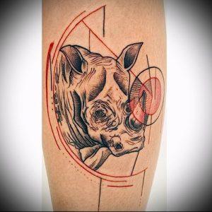 фото тату носорог (rhino tattoo) (значение) - пример рисунка - 038 tatufoto.com