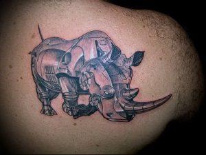 фото тату носорог (rhino tattoo) (значение) - пример рисунка - 039 tatufoto.com