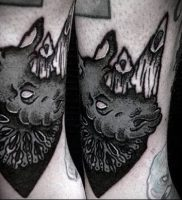 фото тату носорог (rhino tattoo) (значение) — пример рисунка — 040 tatufoto.com